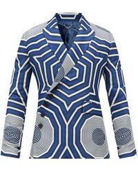 Charles Jeffrey LOVERBOY Blighty Recycled Fibre-blend Suit Jacket - Blue