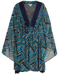 Talitha - Painted Jasmin Graphic-print Silk-chiffon Dress - Lyst