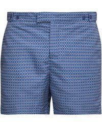 Frescobol Carioca Ipanema-print Tailored Swim Shorts - Blue