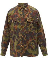 Versace フローラル コットンツイルジャケット - マルチカラー