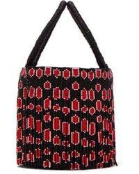 Sensi Studio - Leopard Beaded-tassel Bucket Bag - Lyst