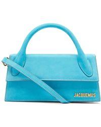 Jacquemus チキート スモール スエードバッグ - ブルー