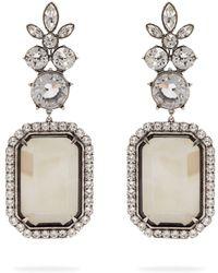 Balenciaga - Floral Crystral Drop Earrings - Lyst