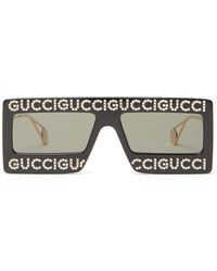 Gucci - Hollywood Forever Rectangle Acetate Sunglasses - Lyst
