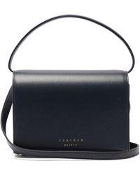 Tsatsas Malva 4 Grained-leather Bag - Blue