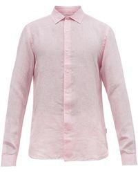 Orlebar Brown ジャイルズ リネンシャツ - ピンク