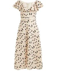 Giambattista Valli - Floral-embroidered Lace Dress - Lyst