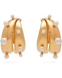 Peter Pilotto Faux Pearl Embellished Earrings - Metallic