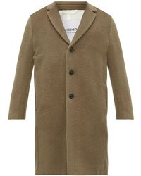 President's Egg Single Breasted Alpaca Blend Coat - Natural