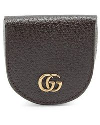 Gucci - Gg Marmont Grained-leather Coin Purse - Lyst