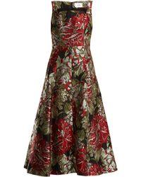 Erdem Polly Flower-jacquard Dress - Multicolour