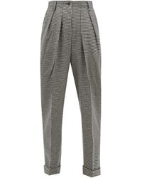 JW Anderson Checked Wool-blend Trousers - Multicolour