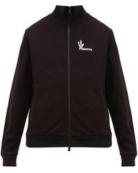 Moncler Pull en jersey de coton technique à imprimé logo - Noir