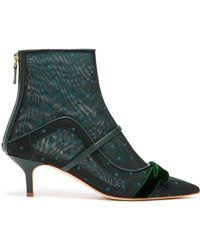 61ac485eb98ef See By Chloé Claudia Shearling And Suede Ankle Boots in Black - Lyst