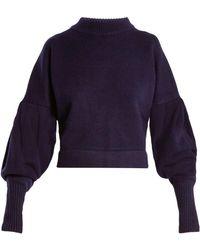 Tibi - Pleated-sleeve Cashmere Jumper - Lyst
