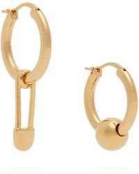 Burberry - - Crystal Embellished Chain Link Earrings - Womens - Gold - Lyst