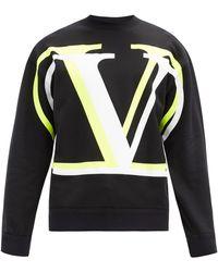 Valentino Vロゴ コットンスウェットシャツ - ブラック
