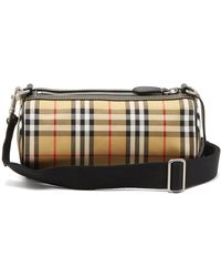 Burberry - Kennedy Small Vintage Check Barrel Bag - Lyst
