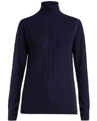 Falke - Evelyn Roll Neck Wool Blend Sweater - Lyst