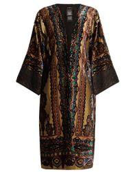 Etro - - Paisley Print Devoré Velvet Jacket - Womens - Gold - Lyst