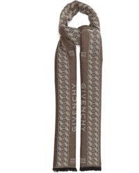 Givenchy チェーンジャカード ウールシルクスカーフ - マルチカラー