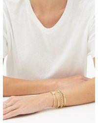 Lizzie Mandler ナイフ エッジ ダイヤモンド 18kゴールドカフブレスレット - メタリック