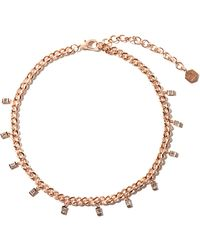 SHAY - Link Diamond & 18kt Rose-gold Chain Choker - Lyst