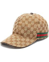 Gucci - Casquette de base-ball avec détail bande Web - Lyst