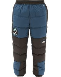 The North Face Nse Lhotse Bi-colour Quilted Down Shell Pants - Blue