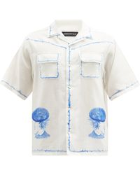 Undercover ベレーラッズ ウォーターカラー コットンシャツ - ホワイト