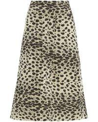 Sea Leo Leopard-print Cotton Skirt - Multicolor