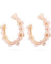 Simone Rocha - Large Crystal-daisy Hoop Earrings - Lyst