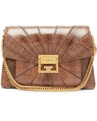 Givenchy Gv3 Small Snakeskin Cross-body Bag - Brown