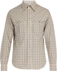 Isabel Marant - Vicson Checked Cotton Shirt - Lyst