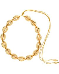 Tohum Puka Shell Charm 24kt Gold-plated Choker - Metallic