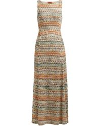 Missoni Zigzag Knit Maxi Dress - Multicolor