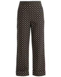 Ace & Jig - Annie High-rise Wide-leg Cotton Trousers - Lyst