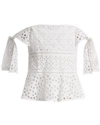 Rebecca Taylor - Amora Broderie-anglaise Cotton Top - Lyst