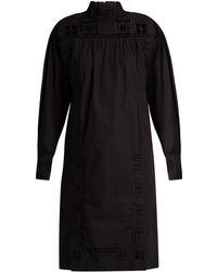Isabel Marant - Samuel High-Neck Cotton Dress - Lyst