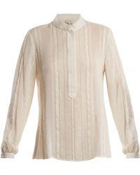 Zeus + Dione | Hera Striped Raw-silk Shirt | Lyst