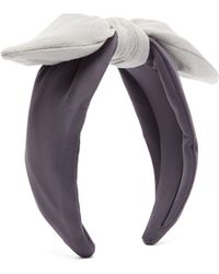 House of Lafayette Leila Knotted-bow Jersey Headband - Gray