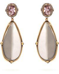 Alexander McQueen - Crystal And Mirror Drop Earrings - Lyst