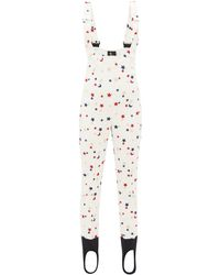 Moncler Genius Star-embroidered Salopettes - White