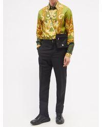 Versace メドゥーサ ルネッサンス シルクツイルシャツ - グリーン