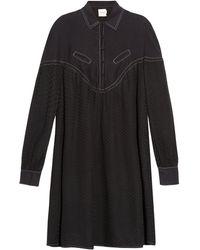 Cecilie Copenhagen - Feliz Long-sleeved Cotton And Silk-blend Dress - Lyst