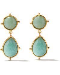 Sylvia Toledano 2 Pierres Dot Amazonite Clip Earrings - Multicolour