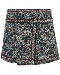 Étoile Isabel Marant Hanon Floral-print Quilted Skirt - Black