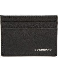 Burberry - Porte-cartes en cuir grainé - Lyst