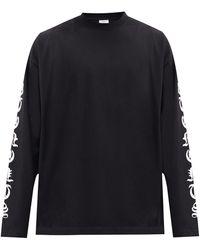 Vetements ロングスリーブ Tシャツ - ブラック