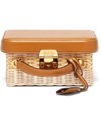 Mark Cross - Grace Small Leather And Wicker Box Bag - Lyst